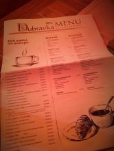 Dubravka Kafe Menü